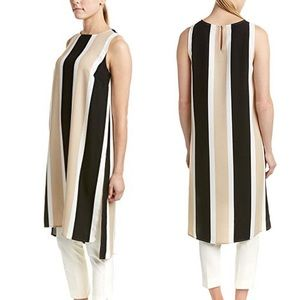 Vince Camuto striped duster tunic, black white tan